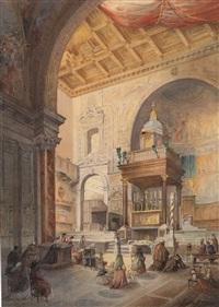 presbiterio con ciborio di chiesa by aniello d' aloisio