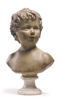 anne-ange houdon at fifteen months by jean-antoine houdon
