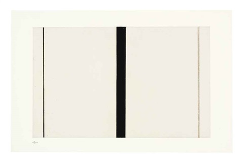 untitled etching i by barnett newman