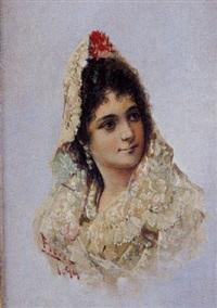 dama con mantilla by alfredo florez