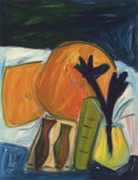 stilleben mit melonen by hartmut hacky ritzerfeld