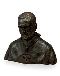 bust of cardinal william godfrey by arthur john fleischmann