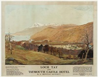 loch tay/taymouth castle hotel by alexander brownlie docharty