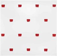 abdrcke eines pinsels nr. 50, wiederholt in regelmssigen abstnden von 30cm. (imprints of a no. 50 paintbrush, repeated at regular intervals of 30cm.) by niele toroni