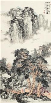 深山隐居图 by liang shunian