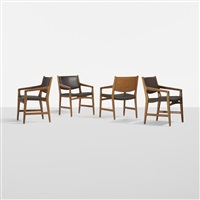 set of of four armchairs from magasin du nord by hans j. wegner
