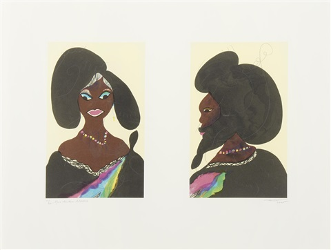 afro harlem muses 2 works by chris ofili