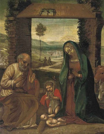 the nativity with st john the baptist by benvenuto tisi da garofalo