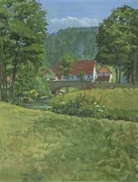 heeselichtmühle im polenzthal (+ bennewitz; 2 works) by karl herman müller-samerberg