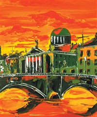 dublin views showing the four courts (pair) by reza macdougald