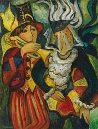 musicien et colombine by mila staroverova