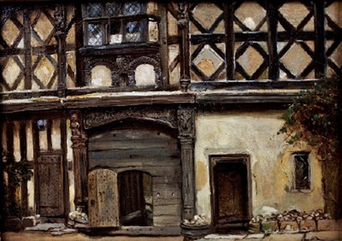 interior studies of stokesay castle set of 6 by frank moss bennett