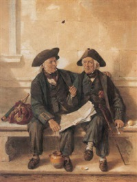 greenwich pensioners discussing the merits of the crimean war by octavius oakley