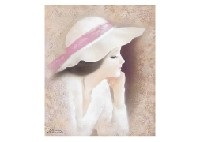 woman with a hat by osamu nakahara