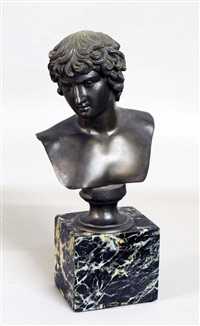 bust of a roman youth by nicola d' antino