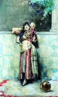 jeune orientale au brûle-encens by casimiro tomba