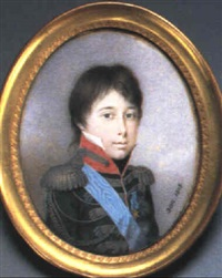 achille, 2nd prince murat by nicolas-françois dun