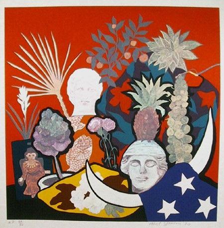 untitled patriotic picnic by hunt slonem