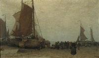 the ships at dock by wilhelm bartsch