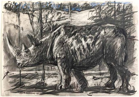 rhino by william kentridge