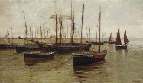 the harbour at st ives by john mallord bromley