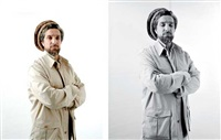 portrait du commandant ahmad shah massoud (diptych) by jonathan zabriskie