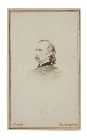 Carte De Visite Portrait Of Major General George A Custer By Mathew Brady