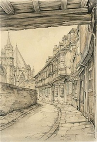 view of york by anton pieck
