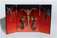 erato (triptych) by albert (ali) reiss