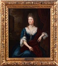 portrait einer jungen adligen dame by constantyn netscher