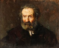 portrait of an old man by leopoldo romanach