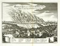 abbildung der statt london, sambt dem erschroklichen brandt by matthäus merian