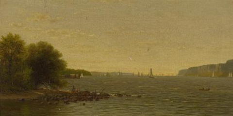 along the hudson river by richard william hubbard