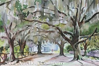 live oaks and spanish moss, handsboro, mississippi (+ 2 others; 3 works) by francis wenderoth saunders