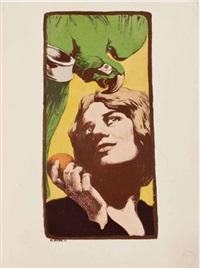 la femme au perroquet by angelo jank