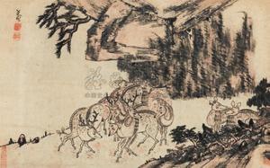 群鹿图 deers by bada shanren