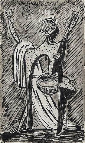 personnage au drape blanc by julio gonzález