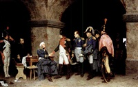 napoleon visiting a wounded marshal by alcide segoni