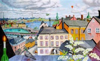 stockholmsvy by mona huss-wallin