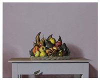 still life with fruits by miguel padura
