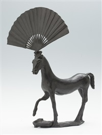 horse with a fan by barry flanagan