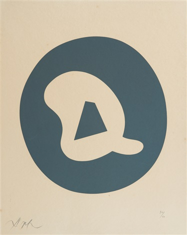 composition abstraite by hans arp
