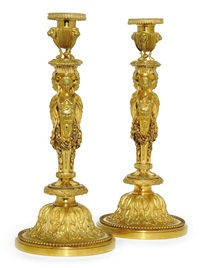 candlesticks (pair) by françois rémond