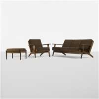 suite of furniture by hans j. wegner