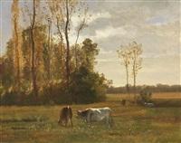 kühe in wiesenlandschaft by constant troyon