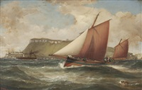 fishing trawl off the cumbraes by samuel holburn fyfe