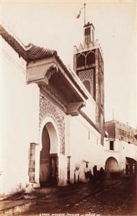 maroc. sultan palace. throne room. grand mosque. palais dar-al-makhzen et grande mosquée de tanger. trois by james valentine