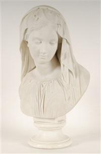buste de jeune femme by giovanni maria benzoni