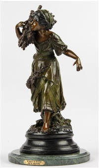 woman carrying wood by auguste louis mathurin moreau