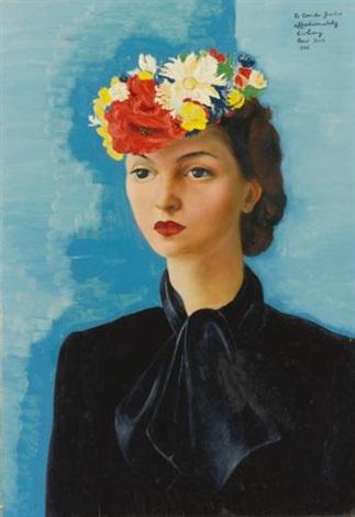 portrait de madame judis by moïse kisling